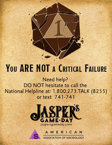 Jasper's - You are not a critical failure